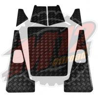 Defender 110 Set C - 2mm Chequer Plate - Powdercoated Black
