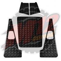 Defender 110 Set D - 2mm Chequer Plate - Powdercoated Black